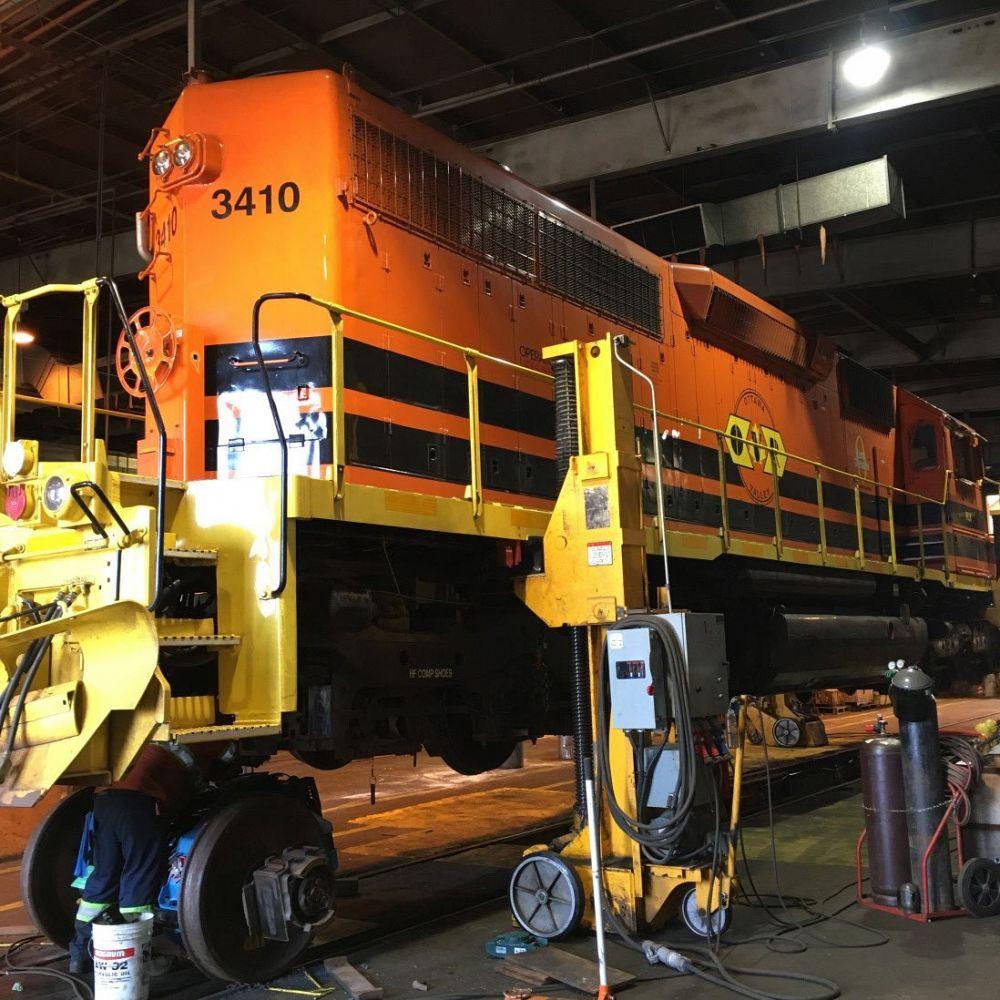 Locomotive Running Repairs Out of Douglas Location